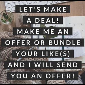 Make me an offer!  Bundle and save!